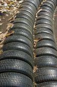 Parede de pneus