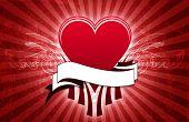 Rock And Roll Valentine Grunge Background