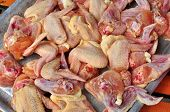 raw chicken wing selling in the market