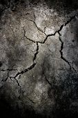 Crack At Stone Wall  ;  Abstract Dirty Grunge Background