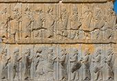 Ancient Bas-Reliefs Of Persepolis, Iran