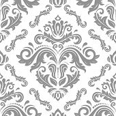 Classic Seamless Vector Pattern. Damask Orient Ornament. Classic Vintage Background. Orient Light Or poster