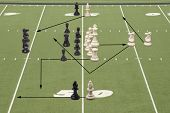 Chess Football 50 Yard Line Play