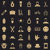 Hair Salon Icons Set. Simple Style Of 36 Hair Salon Vector Icons For Web For Any Design poster