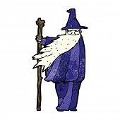 cartoon wizard with staff