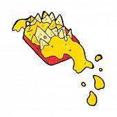 cartoon nacho cheese
