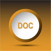 Doc. Plastic button. Raster illustration.