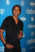 LOS ANGELES - OCT 20:  Brandon T. Jackson arrives at  the Qubeeys Chris Brown Channel Launch Event at Private Residence on October 20, 2012 in Beverly Hills, CA