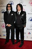 LOS ANGELES - OCT 20:  Gene Simmons, Paul Stanley arrives at  the 26th Carousel Of Hope Ball at Beverly Hilton Hotel on October 20, 2012 in Beverly Hills, CA