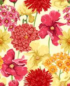 foto of weed  - Floral seamless wallpaper in watercolor style - JPG