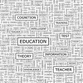 EDUCATION. Seamless vector pattern.