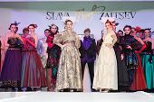 MOSCOW - NOVEMBER 4: Models on show of designer Slava Zaitsev in fashion house of Slava Zaitsev on N
