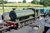 ROLVENDEN, ENGLAND - AUGUST 20: Austerity class 0-6-0 steam locomotive Holman F. Stephens on August
