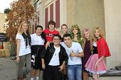LOS ANGELES - OCT 21: Caroline Sunshine, Raini Rodriguez, Kelli Berglund, Bella Thorne, Olivia Holt, Katherine McNamara, Rico Rodriguez, Adam Irigoyen on October 21, 2012 in Los Angeles, California