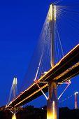 Ting Kau ponte de Hong Kong à noite