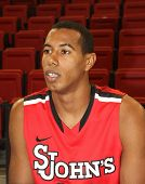 NEW YORK-OCT. 23: St. John's Red Storm forward Orlando Sanchez during media day on October 23, 2012 at Carnesecca Arena, Jamaica, Queens, New York.