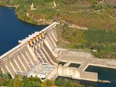 picture of hydroelectric power  - hydroelectric power station - JPG
