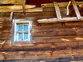 Rustikale Holz Bard Fenster Detail
