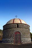 Ermita santa Cecilia Fuencaliente church in La Palma Canary Island