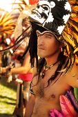 LOS ANGELES, CA - MAY 9, 2010: Native American Indian man at the Los Angeles Pow Wow on May 9, 2010