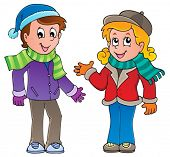 Cartoon kids theme image 1 - vector illustration.
