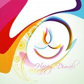 stylish colorful diwali diya vector background