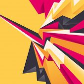 Abstract layout with angular shapes. Vector illustration.
