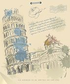 pic of tourist-spot  - European cities symbols sketch - JPG