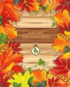 Seamless background from autumn maple leaves. Happy Thanksgiving beautiful card with Place for your