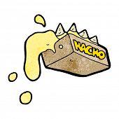 messy nacho cheese cartoon