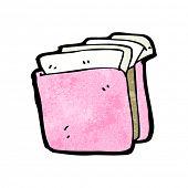 cartoon pink business folder
