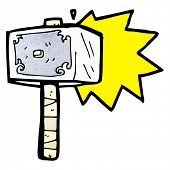 picture of thors hammer  - cartoon hammer - JPG