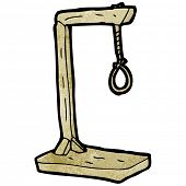 cartoon gallows