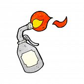 foto of blow torch  - cartoon blow torch - JPG