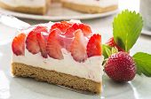 stock photo of pie-in-face  - strawberry pie - JPG