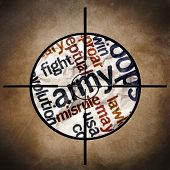 Military Target On Army Text