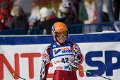 SOELDEN, AUSTRIA -OCT 25:GASIENICA DANIEL Agnieszka POL competing in the womens giant slalom race at