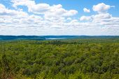 Lookout Over 2 Rivers Lake At Algonquin Park.