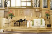 pic of church interior  - Interior view of a modern church - JPG
