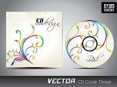 Floral decorated CD Cover for your business.