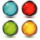 Vector Glossy Buttons.