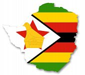 Map and flag of Zimbabwe