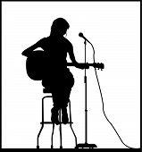 Girl seat guitar