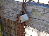 Rusted Chain & Fence