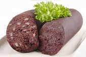 Home Made Black Pudding With Parsley
