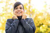 Sportwoman Portrait On Autumn