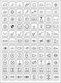 Icons of most frequently used engineering symbols