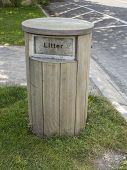 The Wooden Litter Bin