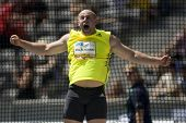June 14 2009; Berlin Germany. MALACHOWSKI Piotr (POL) competing in the discus at the DKB ISTAF 68 In