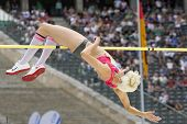 June 14 2009; Berlin Germany. Ariane FRIEDRICH (GER) competing in the high jump at the DKB ISTAF 68 International Stadionfest Golden League Athletics competition.